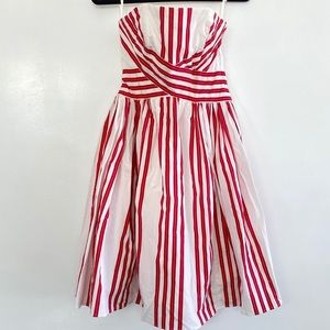 Anthropologie Odille Strapless Dress Striped